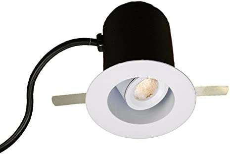 1 Brushed Nickel WAC Lighting HR-LED232R-30-BN LEDme Miniature Round Recessed Adjustable Task Light 3000K Soft White