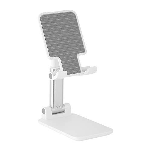 スマホ スタンド ホルダー タブレット スタンド 折り畳み式- Acharger iPad/iPhone/携帯 スタンド, 高度調整可能 滑り止め コンパクト 軽量,iPhone 11 Pro XS XS Max XR X 8 plus 7 7plus 6 6s 6plus/Sony Xperia/Nexus/androidなど(4-7.9インチ)に対応 (ホワイト)
