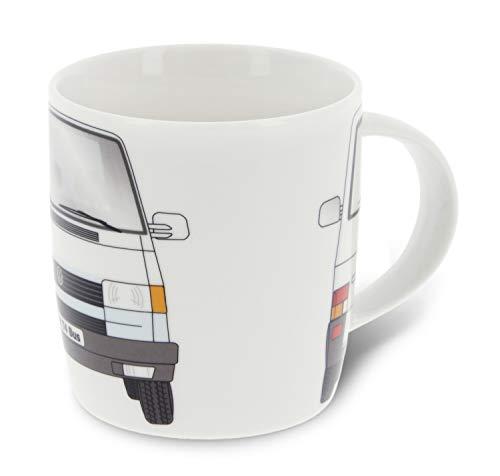 BRISA VW Collection - Volkswagen T4 Bulli Bus Kaffee-Tee-Tasse-Becher für Küche, Werkstatt, Büro - Camping-Zubehör/Geschenk-Idee/Souvenir (Motiv: Front/Weiß)