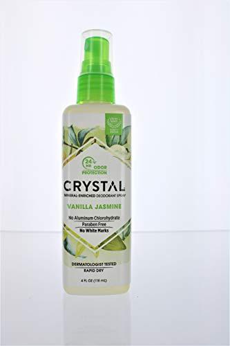 CRYSTAL - Mineral Deodorant Spray, Vanilla Jasmine - 4 fl. oz. (118 ml)