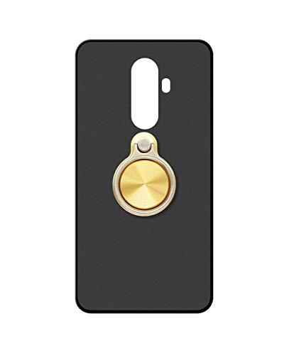 Sunrive Kompatibel mit DOOGEE BL12000 Hülle Silikon, 360°drehbarer Ständer Ring Fingerhalter Fingerhalterung Handyhülle matt Schutzhülle Etui Hülle (A3 Golden) MEHRWEG