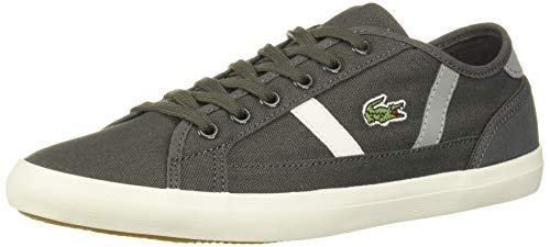 Lacoste Women's Sideline Sneaker, Dark Grey/Grey, 7.5 Medium US