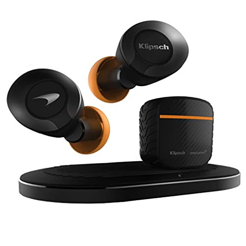 klipsch android earbuds Klipsch T5 II Active Noise Cancelling ANC True Wireless Earphones McLaren Edition with AI Hands-Free Operation, Bluetooth 5.0, Best Fitting Earbuds with Patented Comfort, and a Wireless Charging Case