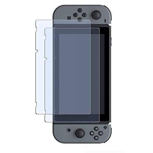 WEOFUN 2 Pezzi Vetro Temperato Nintendo Switch, Display Proteggi Schermo per Nintendo Switch Pellicola Protettiva 6.2 Pollicie 2017/2018/2019 (0,25mm, 9H, Ultra Trasparente)