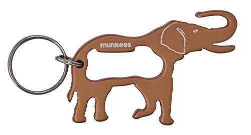 munkees Schlüsselanhänger Elefant-Anhänger Flaschenöffner, Braun, 34377