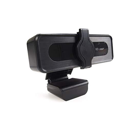 QUMOX Webcam HD 1080P con Microfono e Copertura per la Privacy Streaming USB Computer Webcam Videocamera FHD USB