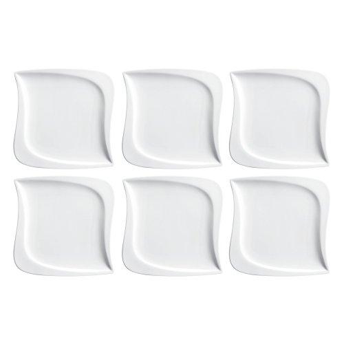 Mäser 923783 La Musica Dessertteller, Ø 21,5cm, weiß (6er Pack)