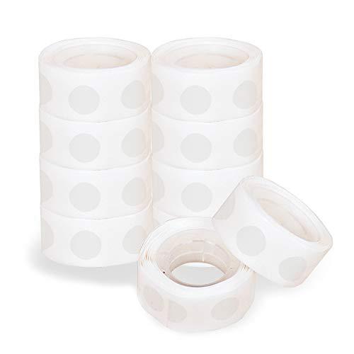 CattleyaHQ 1000 Pièces Ballon Points Collants, Adhésif Invisible Double Face Dot, 10 Rouleaux (100 Pièces par Rouleau) Rubans pour la Décoration de Fête d'anniversaire de Mariage