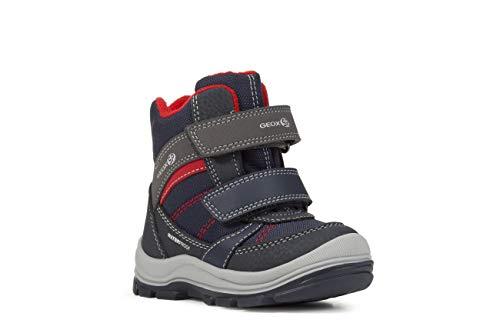 Geox Baby Jungen Snowboots TRIVOR Boy WPF, Kleinkinder Winterstiefel,Schneestiefel,Schneeboots,Schneeschuhe,Canadians,Navy/Grey,22 EU / 5 UK Child