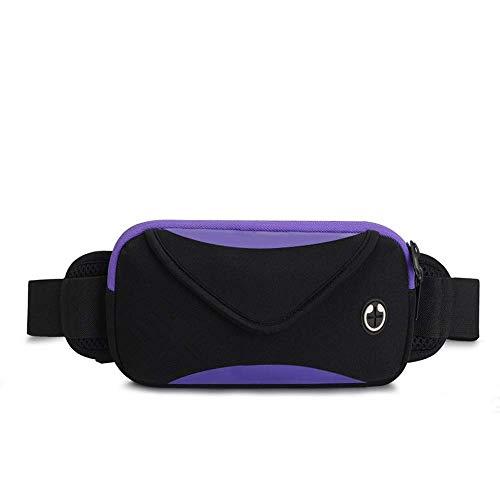 Bolsa de Cintura Bolsa de teléfono móvil Deportiva Tela de Lycra Impermeable Ligero Transpirable Auriculares Diseño de Agujero Gran Capacidad de conducción