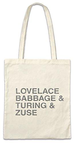 Urban Backwoods Lovelace & Babbage & Turing & Zuse Hipster Bag Beutel Stofftasche Einkaufstasche