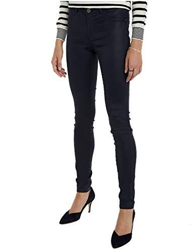 Naf Naf F-COATY Pantalon Femme Bleu (Bleu Marine 567) 34 (Taille fabricant:34)