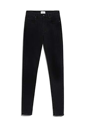 ARMEDANGELS TILLAA X Stretch - Damen Jeans aus Bio-Baumwoll Mix 26/32 Black Night Denims / 5 Pockets Skinny Skinny Fit