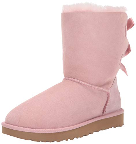UGG Women's Bailey Bow II Fashion Boot, Pink Crystal, 8 M US