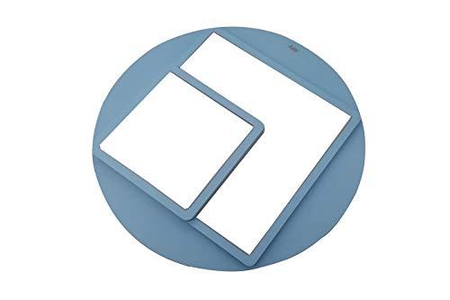 Plafoniera led 65W luce fredda geometrica minimal cameretta azzurro BTL-905