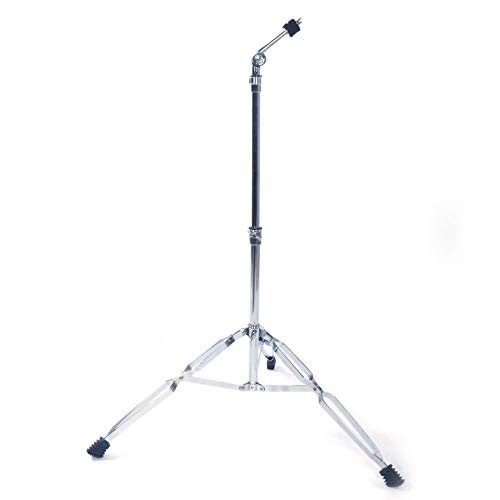 Straight Cymbal Stand Drum Hardware Percussion Mount Holder Gear Set Silver - Light and Portable Perc Set for Acoustic Show - Quality Musical Instrument Accessories