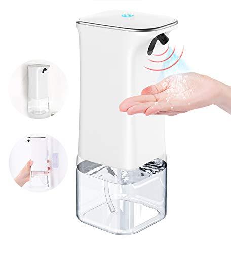 SUPPOU Actualizado Dispensador Automático de Alcohol 350ml, Dispensador Gel Hidroalcoholico Automático con Sensor, Rociador de Líquido sin Contacto para el Hogar, la Oficina, el Hotel, el Colegio