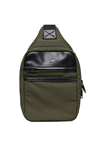 Aeronautica Militärische Tasche BO1034 für Herren, Militärgrün, Schulterriemen, Tasche, Hüfttasche