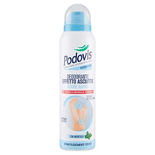 Podovis, Deodorante Spray, Azione Antiodore Efficace 24 Ore, con Agenti Antibatterici, Effetto Fresco e Profumo Delicato, 150 ml