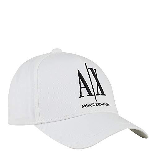 A|X Armani Exchange - Gorra de béisbol para hombre - Blanco - talla única