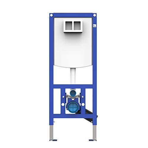 Sanit WC Element INEO Plus (Einbaurahmen mit Wandhalter, ohne Betätigungsplatte, 2 Mengen-Spülung) 90.733.00.0000, grau