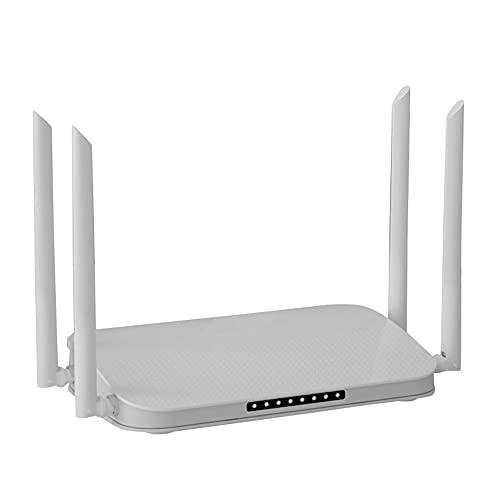Kaxofang WiFi 6 Enrutador 1800 Mbps 4-Core Puerto Gigabit InaláMbrico Hogar una TravéS de la Pared Rey Casa Completa Enrutador WiFi de Alta Potencia Enchufe de la UE
