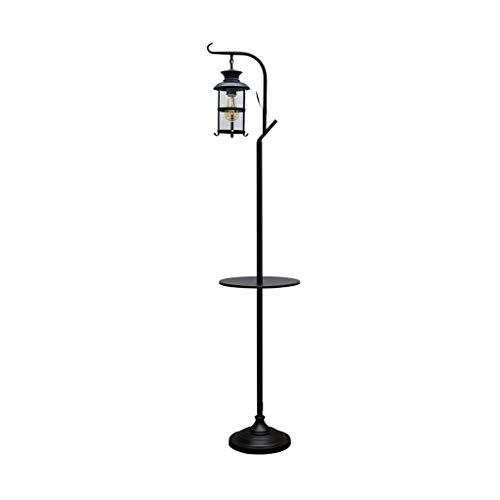 Jiji staande lamp glazen kap American Retro Industrial Wind ijzeren vloerlamp Kerosin kamerlamp woonkamer staande lamp LED