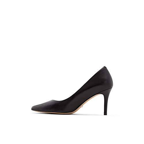 ALDO Women's Coronitiflex Dress Heel Pump, Black Leather, 9