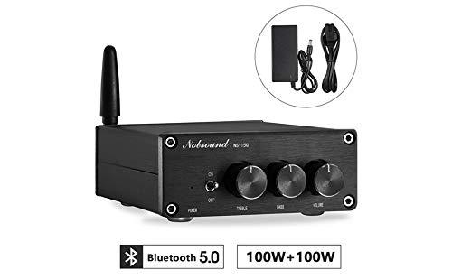Nobsound Mini 200W (100W×2) Bluetooth 5.0 TPA3116 Digital Amplifier HiFi...