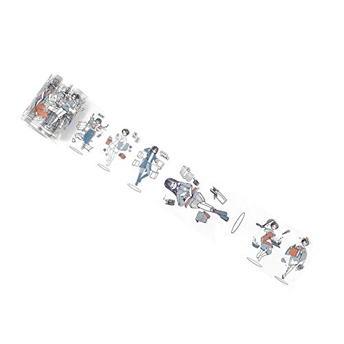 MoGist Matt PET Band Schwimmende Mädchen Serie Hand Konto Material DIY Release Aufkleber Dekorative Aufkleber 1STÜCKE