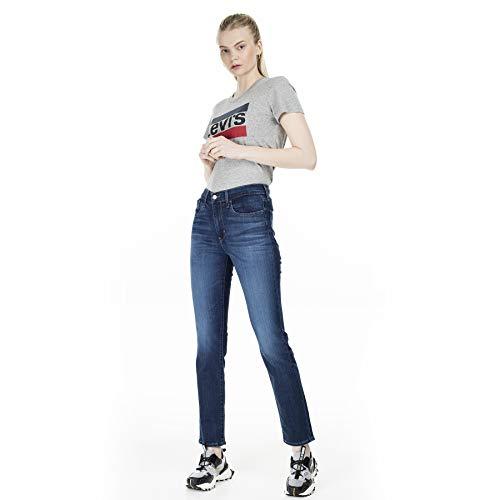 Levi's 724 Jeans de mezclilla recta de alto nivel para mujer Carbon Dust T2
