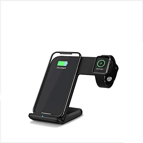ALLWIN 3 En 1 Cargador Inalámbrico, 15W Qi Qi Fast Wireless Charger Dock para iPhone 12/12 Pro / 12 Pro MAX / 11 / 11PRO MAX/X/XR/XS MAX / 8 / 8PLUS