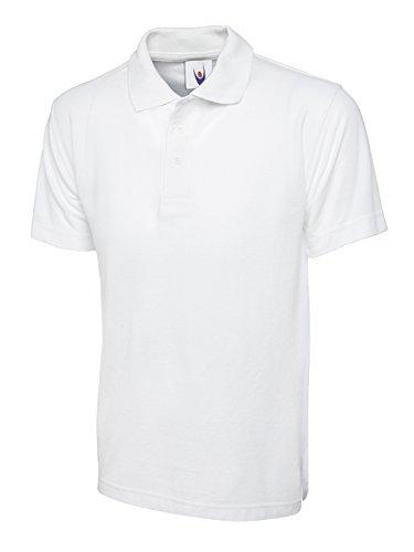 Olympic Schlichtes Poloshirt, kurze Ärmel, Strick, mit Kragen, Freizeit-/ Sport-/ Arbeitsbekleidung Gr. S, weiß