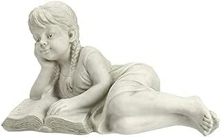 Design Toscano Reading Rebecca Garden Scholar Statue, Single