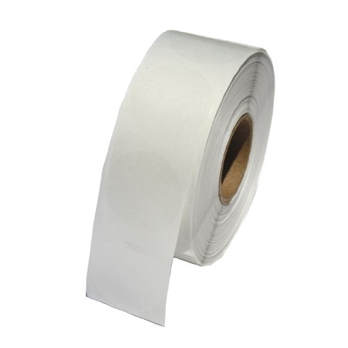 Clear Circle Labels 1 Inch Round Wafer Seals, 1000 Labels per roll, 1 roll per Package