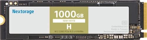 Nextorage NEM-Hシリーズ 1000GB 内蔵SSD M.2 2280 最大転送速度7000MB/s PCIe Gen 4.0 x 4 NVMe 1.4 NEM-HA1TB/E J