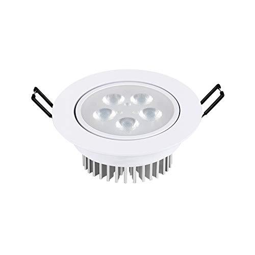 Bildanzeige Akzentlampe Einbaustrahler Downlight 5W Weiß Runde Platte Brandschutz Energieeinsparung Waschen Wandleuchten Kein Flimmern Badezimmer Flur Bühnendekoration AC 110-240V