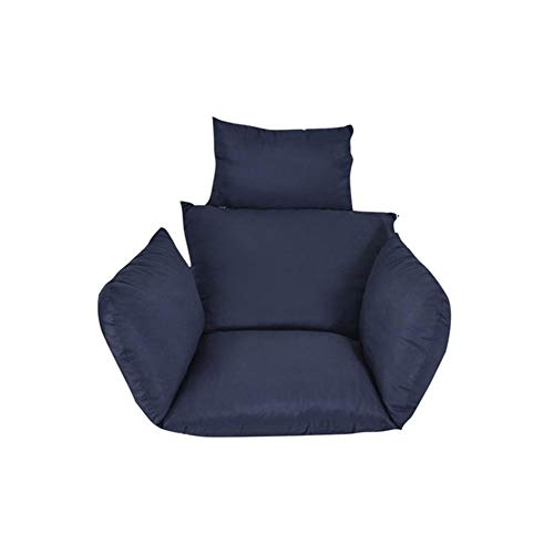 Haute Qualité Chaise Hamac Coussins Mélangisme Jardin Plein Air Douce Coussins Siège 220kg Dortoir Chambre Chaise Suspendus Coussins Confortable (Color : Navy Blue)