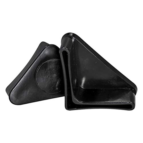 Prescott Plastics 1 1/4 Inch Angle Iron Plastic End Caps L Shaped Chair Glides (10)