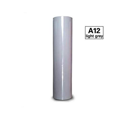 1 vel 30cmx25cm Sticky Back PVC Heat Transfer Vinyl Heat Press Machine T-shirt opstrijkbare HTV bedrukking, lichtgrijs