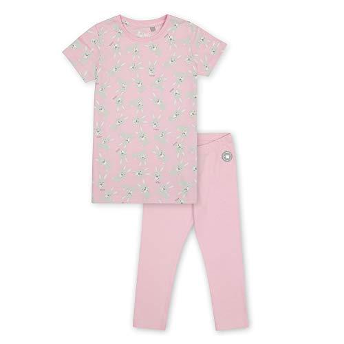 Sigikid Mini-Mädchen Nightwear, 2-teiliger Pyjama aus Bio-Baumwolle für Kinder Juego de Pijama, Rosa/Conejo/Largo, 122 cm para Niñas