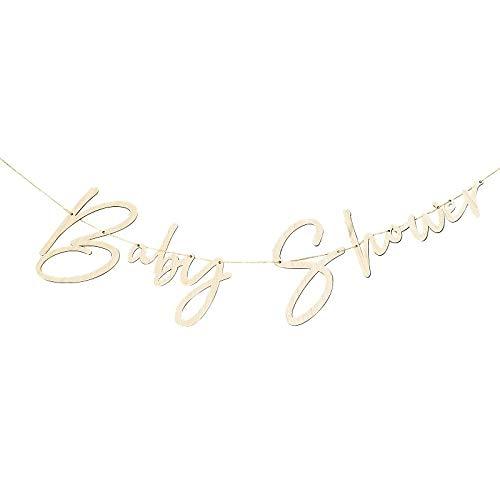 Miss Lovely Houten slinger stapsgewijze baby-shower baner kamerdecoratie baby-party gender-reveal accessoires & accessoires zwangerschapsgeboorte jongen & meisjes