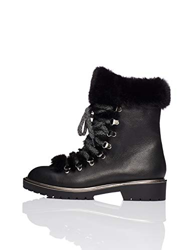 find. Fur Lined Hiker Zapatos de Low Rise Senderismo, Negro Black, 37 EU