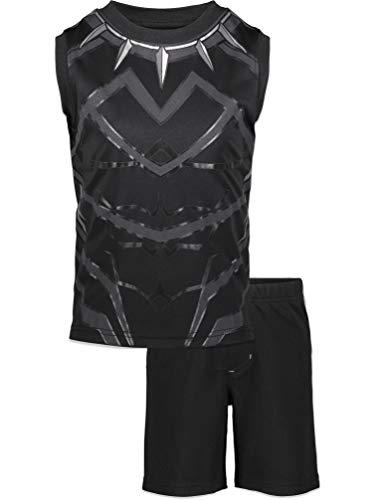 Marvel Avengers Black Panther Big Boys Sleeveless Athletic Tank Top and Shorts Set 10/12