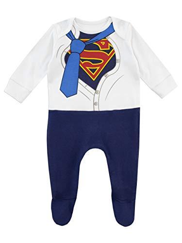 DC Comics Pijama Entera para Niños Bebés Superman Azul 6-9 Meses