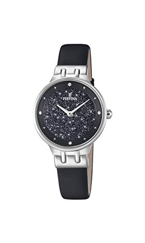 Festina Damen Analog Quarz Uhr mit Leder Armband F20404/3