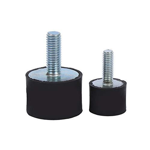 Hlyjoon Gummipuffer 4 Stück Schwingungsdämpfer Silentblock Anti-Vibration Gummilager für Luftkompressoren Dieselmotoren Benzinmotoren Wasserpumpen(VD30*20 M8*23)