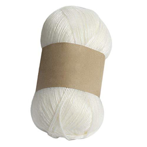 Sukisuki 100g breien wollen garen voor kleding sok sjaal hoed handschoenen trui DIY geweven materiaal Melkachtig Wit