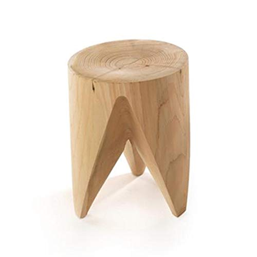 XZPENG Hocker Hocker Schritt Hocker Nordic Natur Log Pier Massivholz-Hocker Kreative Hocker ändern Schuh Bank Teetisch Hocker Baumstumpf Holz Pile (Size : B)