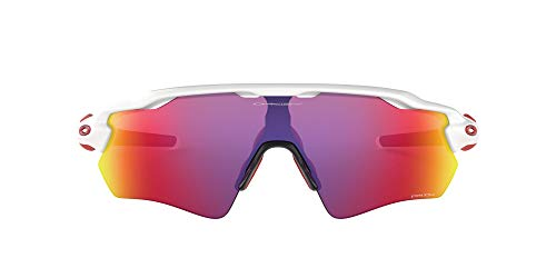 Oakley Radar EV Path - Gafas de Sol, Hombre, Blanco (Polished White/Prizm Road), talla del fabricante: 38